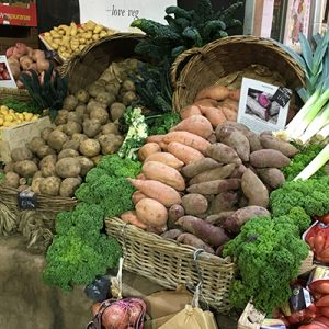 Selection of organic veg